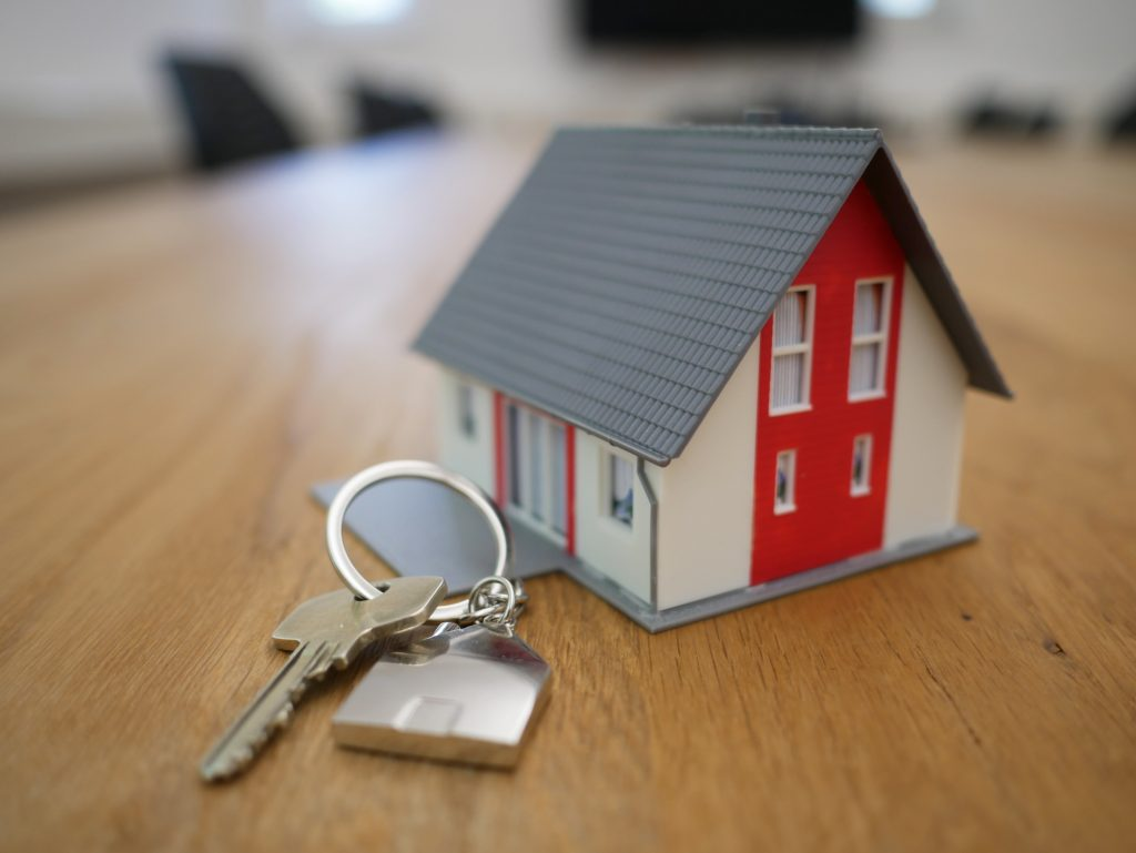 image of house on keychain